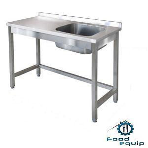 Нержавеющая сталь: стол с мойкой из нержавейки