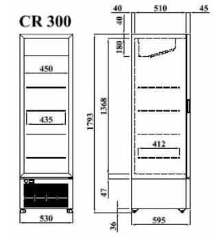 Изображение 2. Шкаф холодильный CR 300