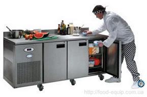 Стол холодильный. Морозильный стол. Холодильный стол для хранения продуктов