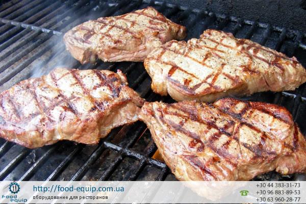 Приготовление мяса на гриле