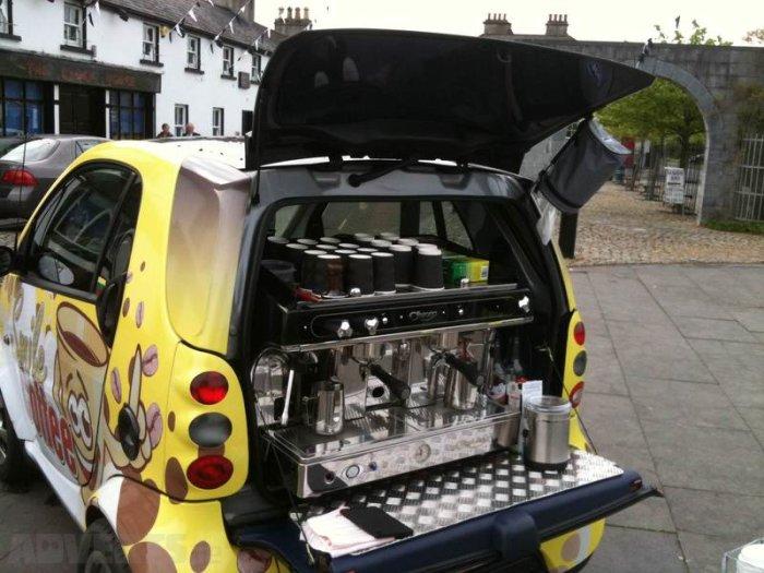оборудование для кофейни на колесах, авто с кофейным оборудованием