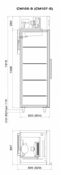 Шкаф холодильный ШХ-0,5 (CM105-S)