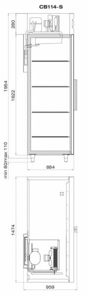 Шкаф морозильный ШН-1,4 (CB114-S)