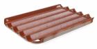 Противень для багетов- 5 углублений, 600x400 мм - алюминий с силиконовым покрытием, перфорированный 808245