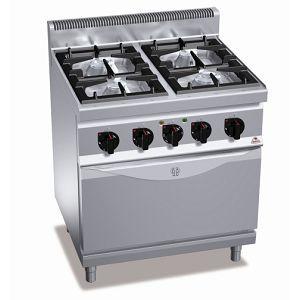 Плита газовая профессиональная с электрической конвекционной духовкой G7F4+FE1