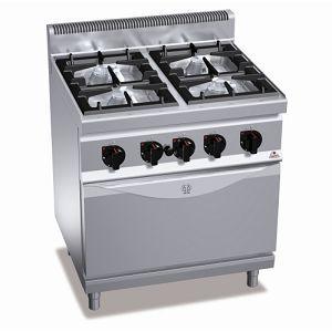 Плита газовая профессиональная с газовой духовкой G7F4+FG